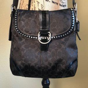 Coach studded crossbody bag in black